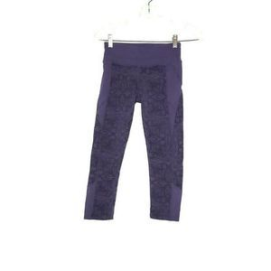 Athleta Capri Leggings Purple Floral XXS